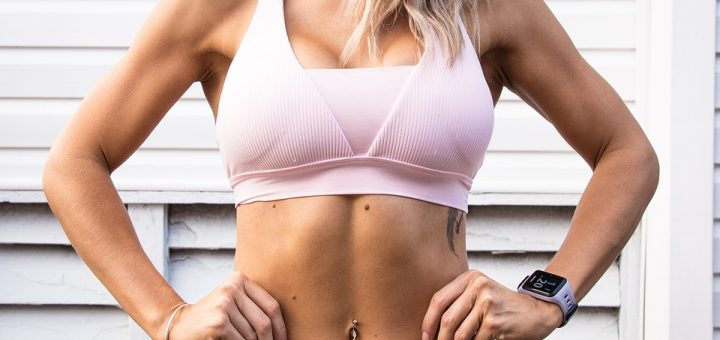 Girl with toned abs